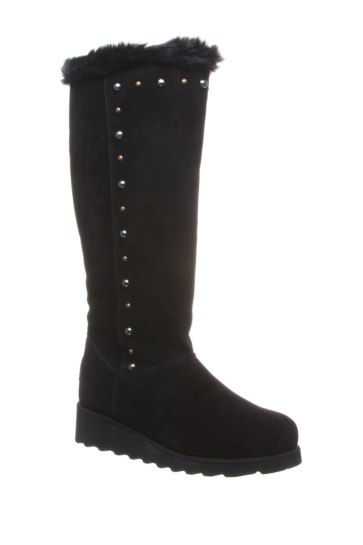 Image of BEARPAW Dorothy Stud Faux Fur Suede Tall Boot