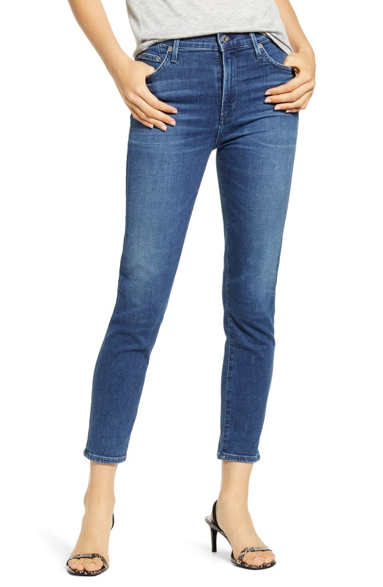 CITIZENS OF HUMANITY Rocket High Waist Crop Skinny Jeans, Main, color, 423