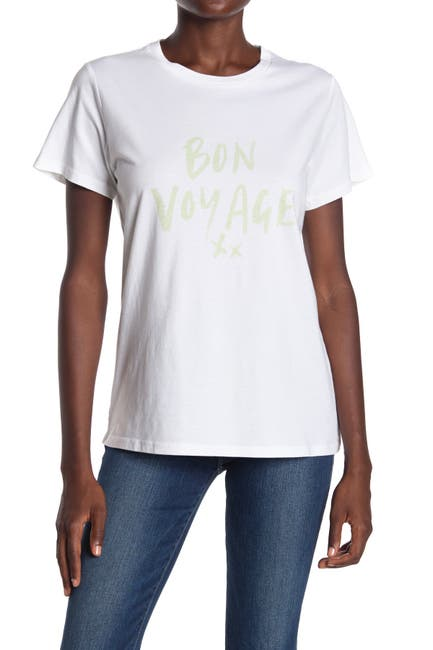 Image of CHARLIE HOLIDAY Bon Voyage Crew Neck Graphic T-Shirt