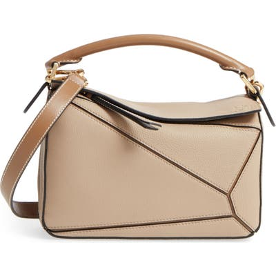 Loewe Puzzle Small Leather Bag - Beige