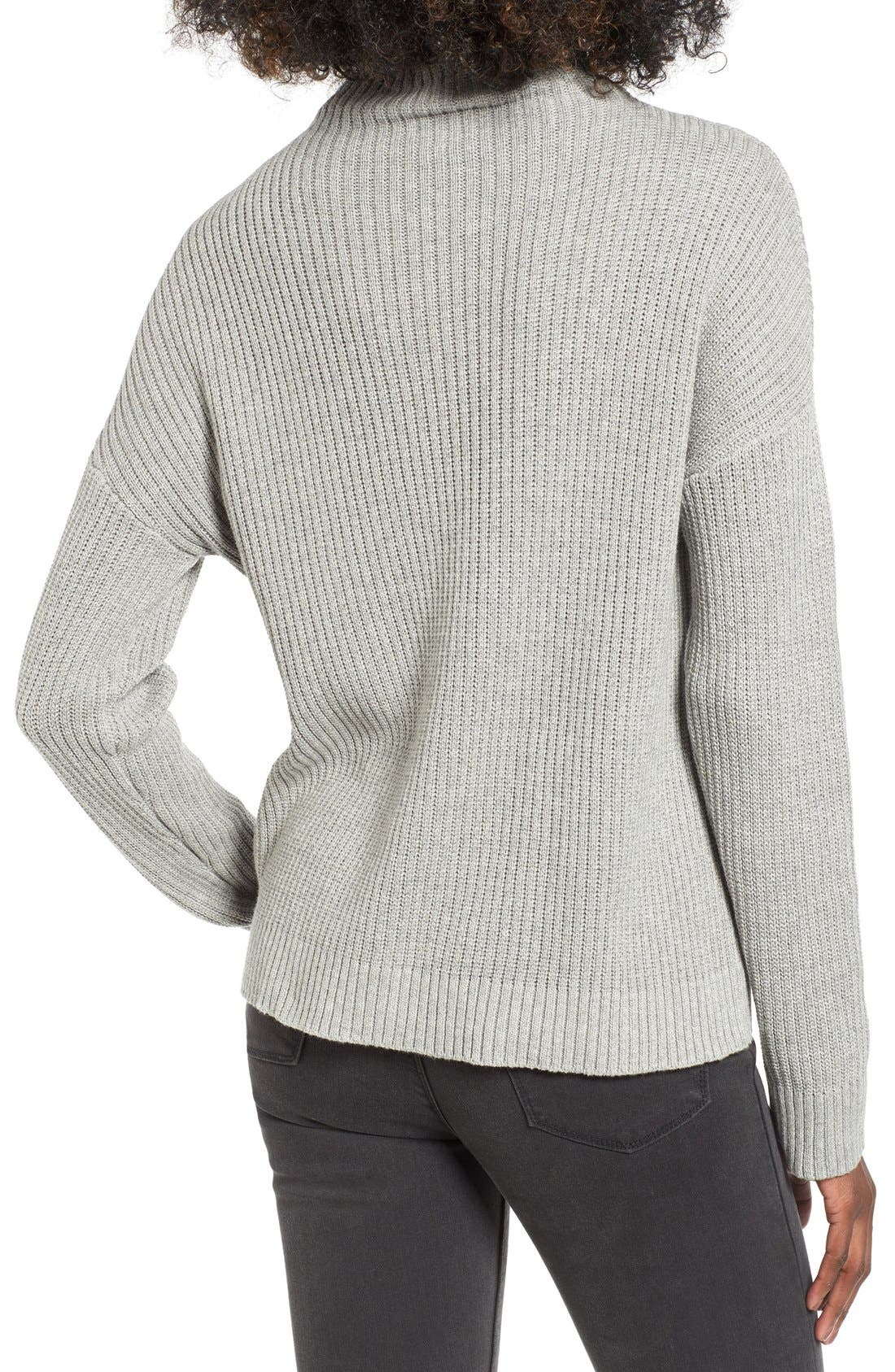 ,                             Mock Neck Sweater,                             Alternate thumbnail 8, color,                             030