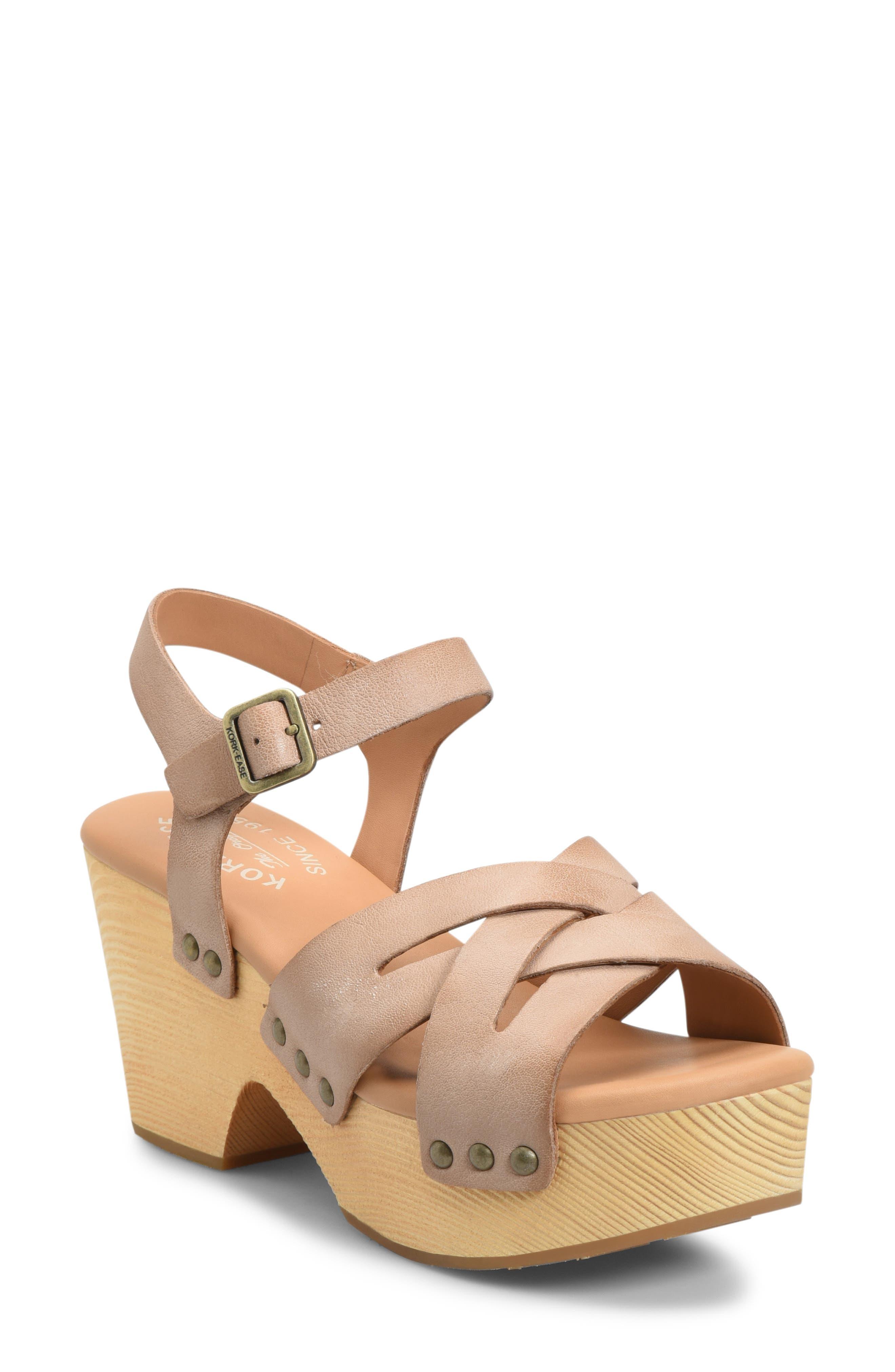 Kork high heels