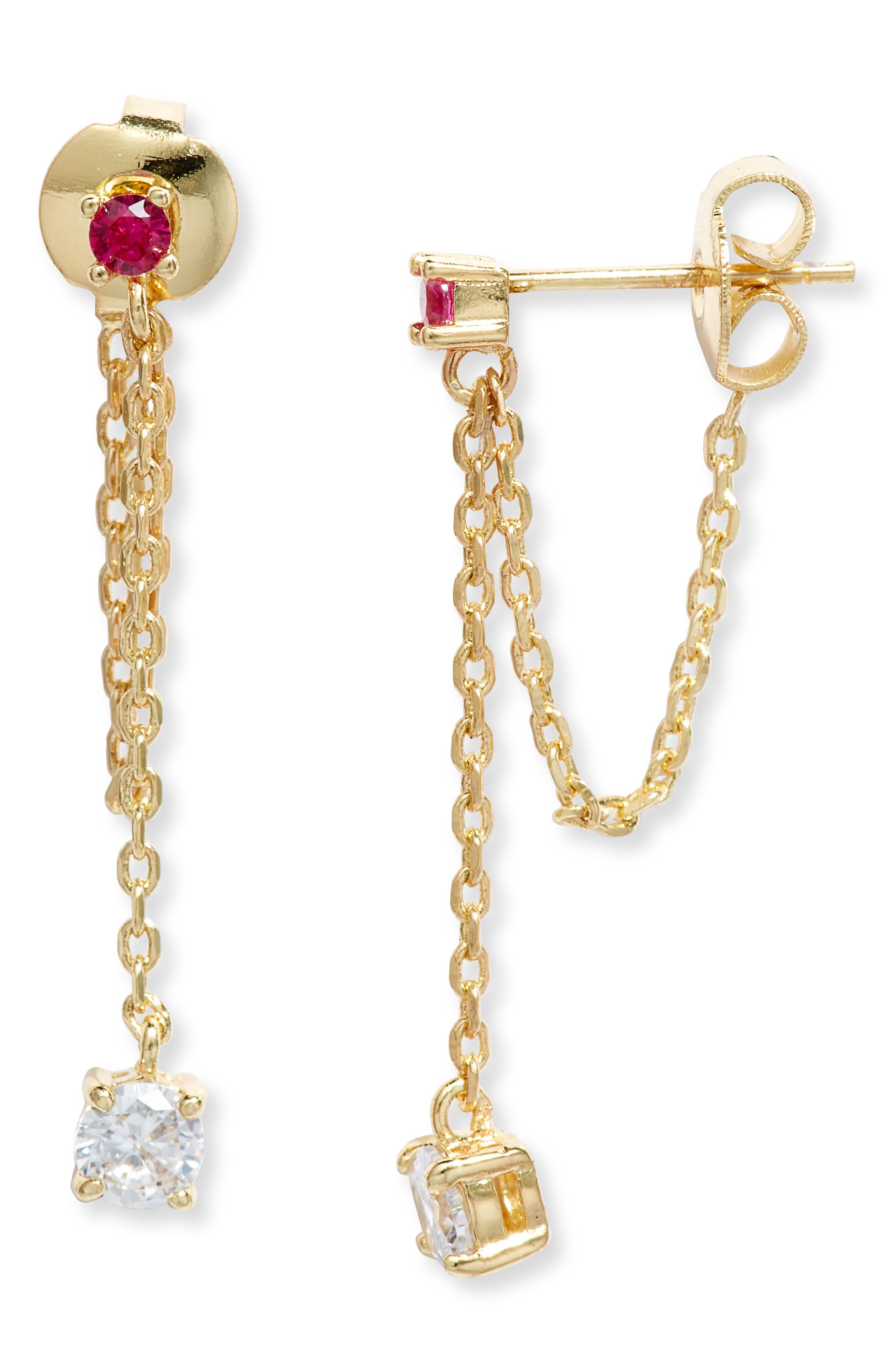 Ray Drop Chain Earrings