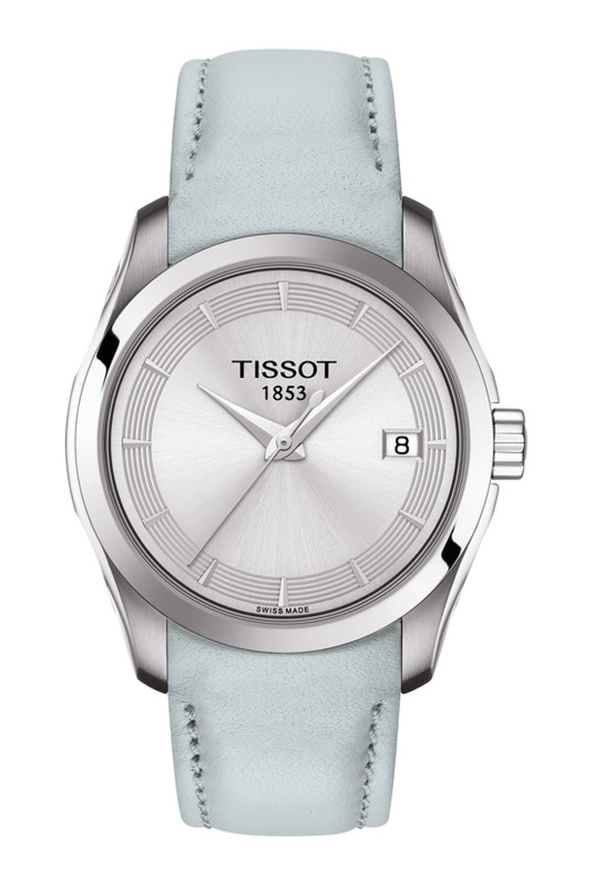 Image of Tissot Women's Couturier Leather Strap Watch, 32mm