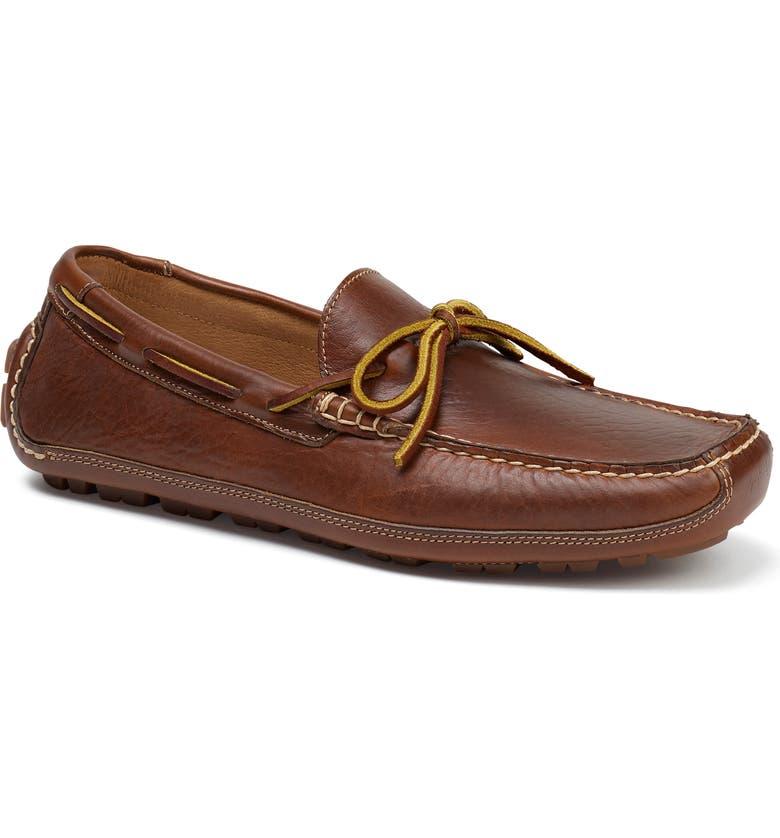 TRASK Dillon Tie Loafer, Main, color, SADDLE TAN