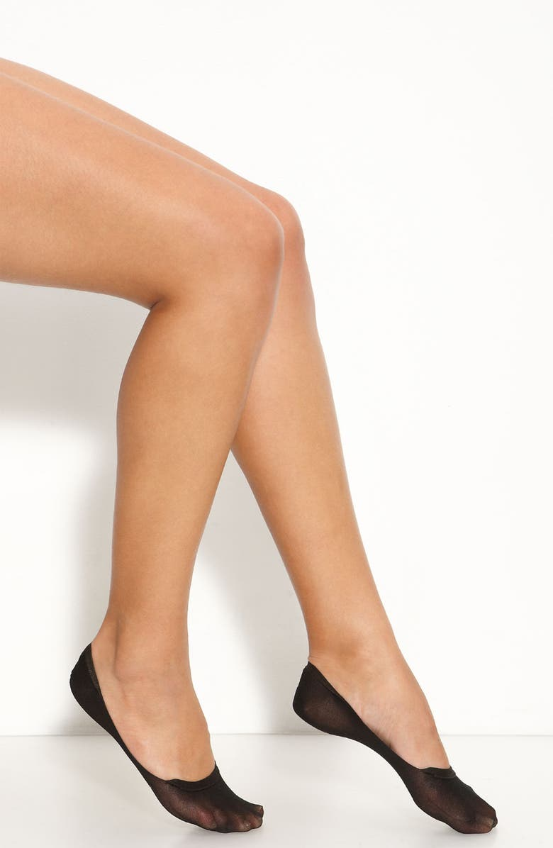 WOLFORD 'Footies' No-Show Sheer Sock, Main, color, 003