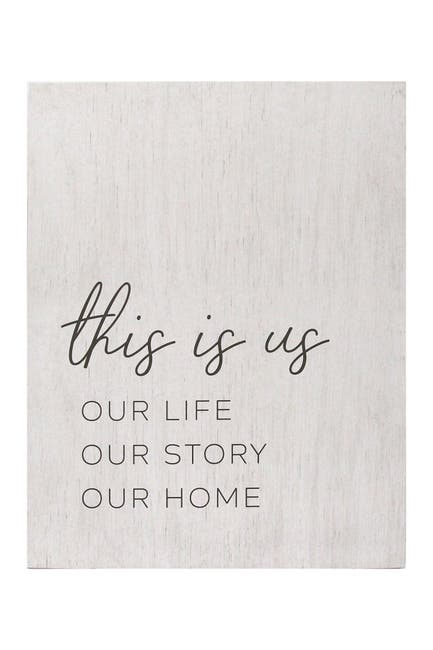 Image of Stratton Home White Life, Story, Home Oversized Wall Art