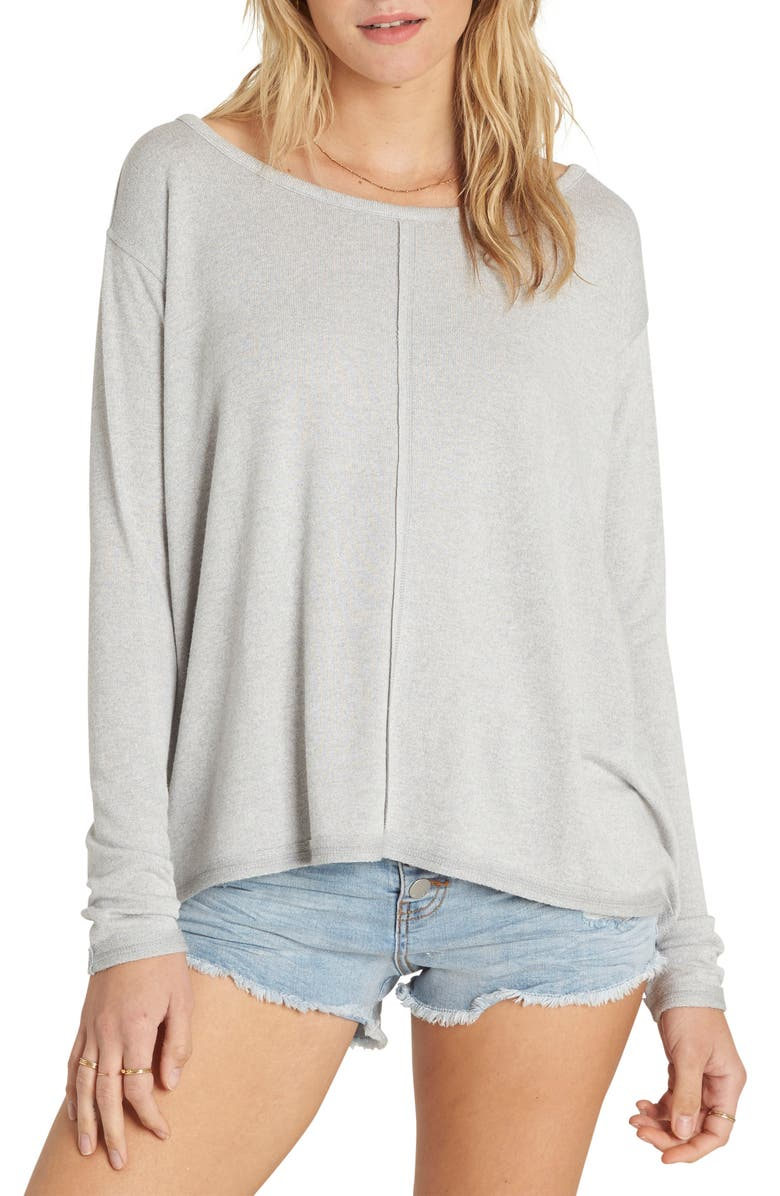 BILLABONG From Here Split Back Pullover, Main, color, 024
