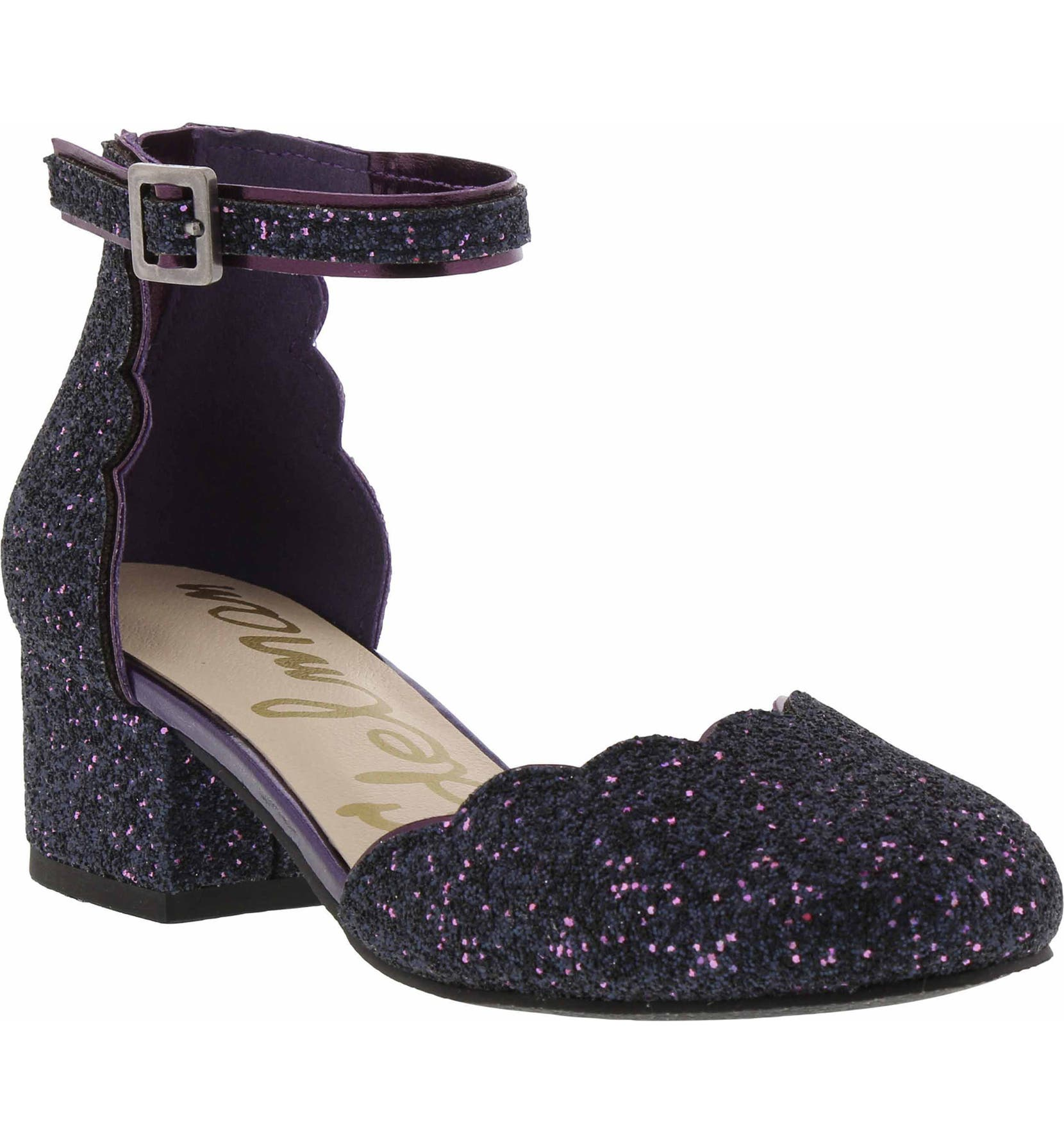 da04afb747 Sam Edelman Evelyn Inara Glitter Ankle Strap Pump (Toddler, Little Kids &  Big Kids) | Nordstrom