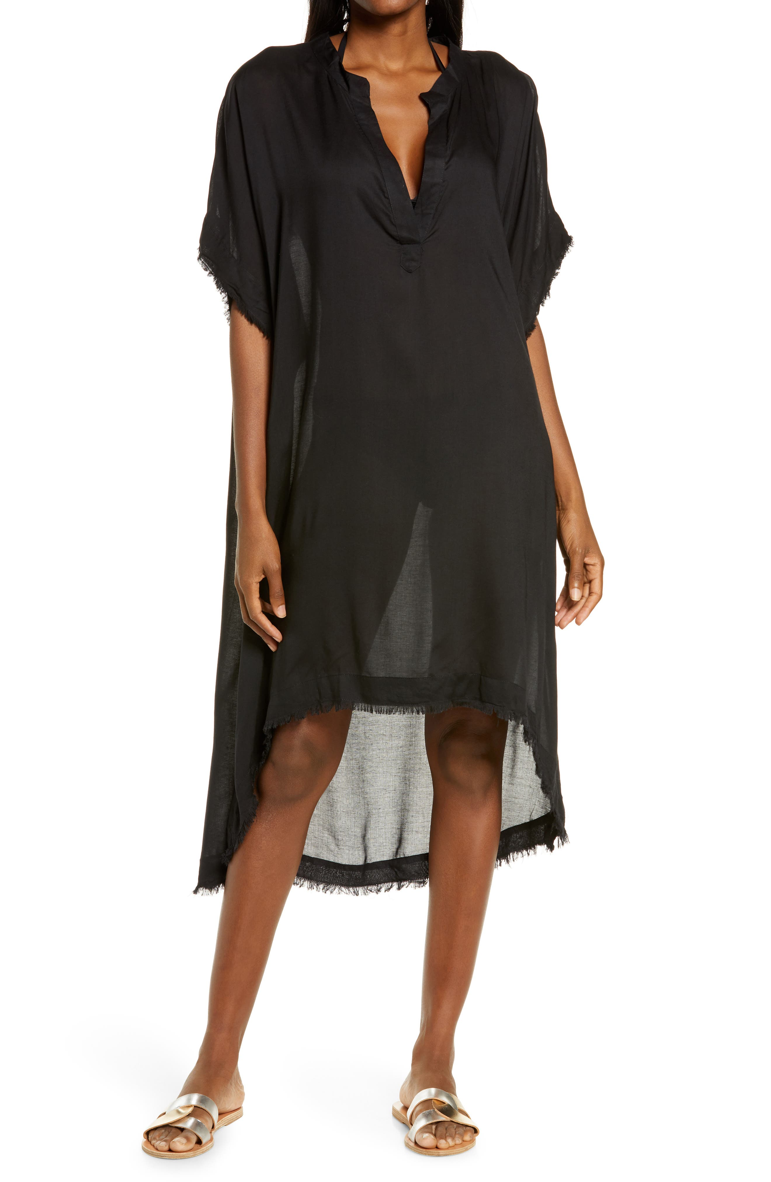 Fray Edge Cover-Up Caftan