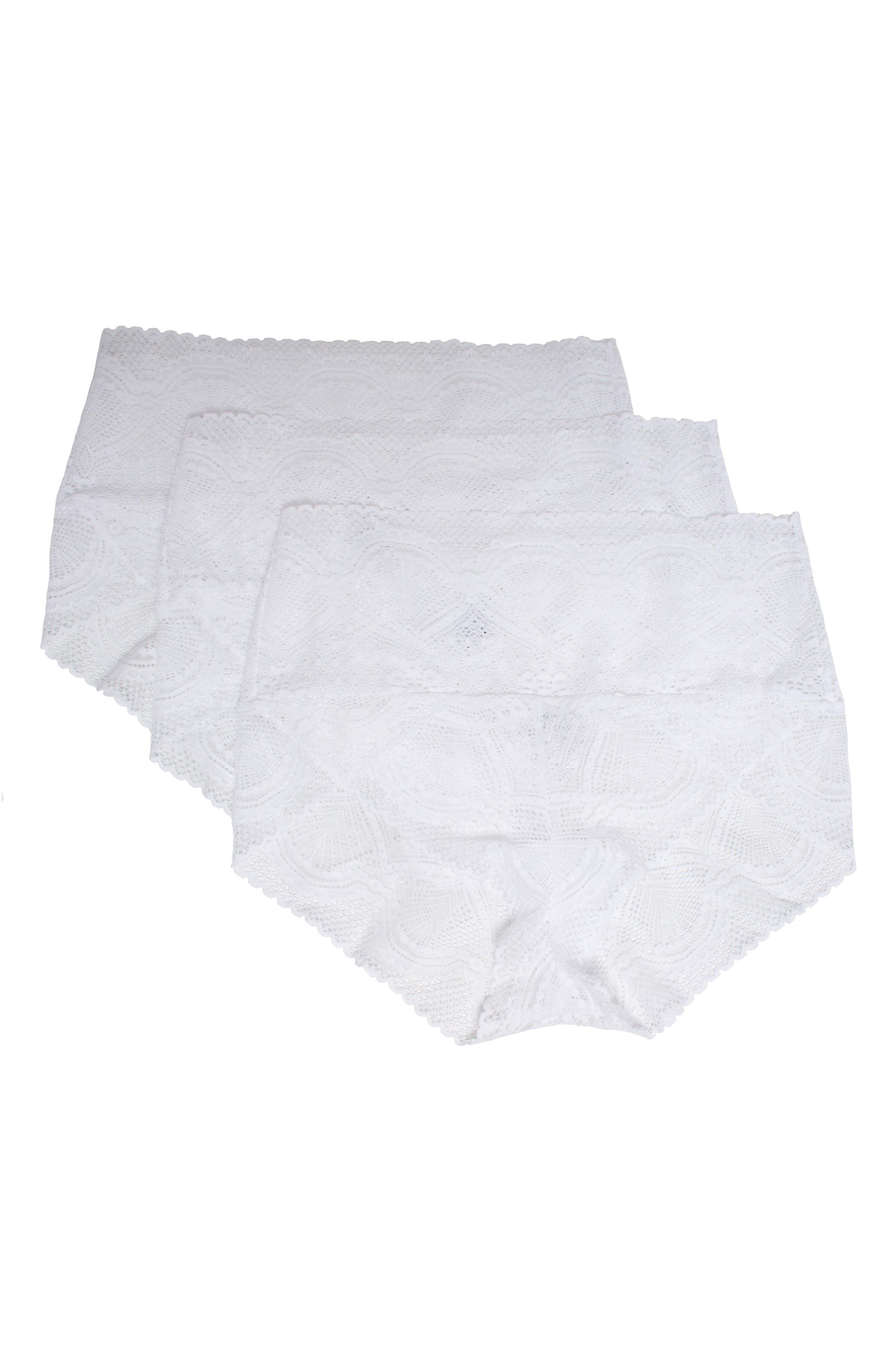 Mock Wrap 3-Pack Lace Briefs