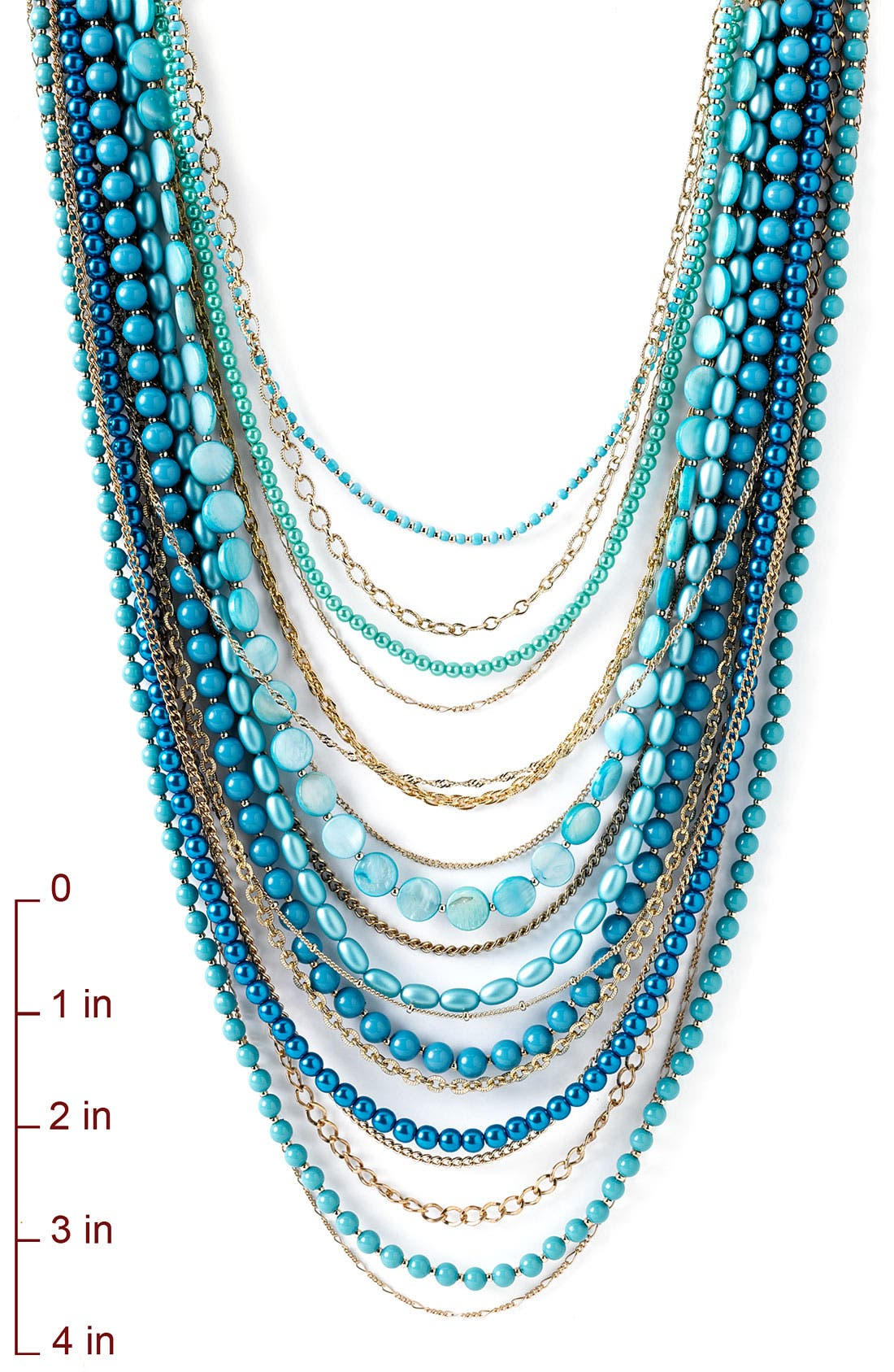 ,                             Beaded Long Multistrand Necklace,                             Alternate thumbnail 16, color,                             440