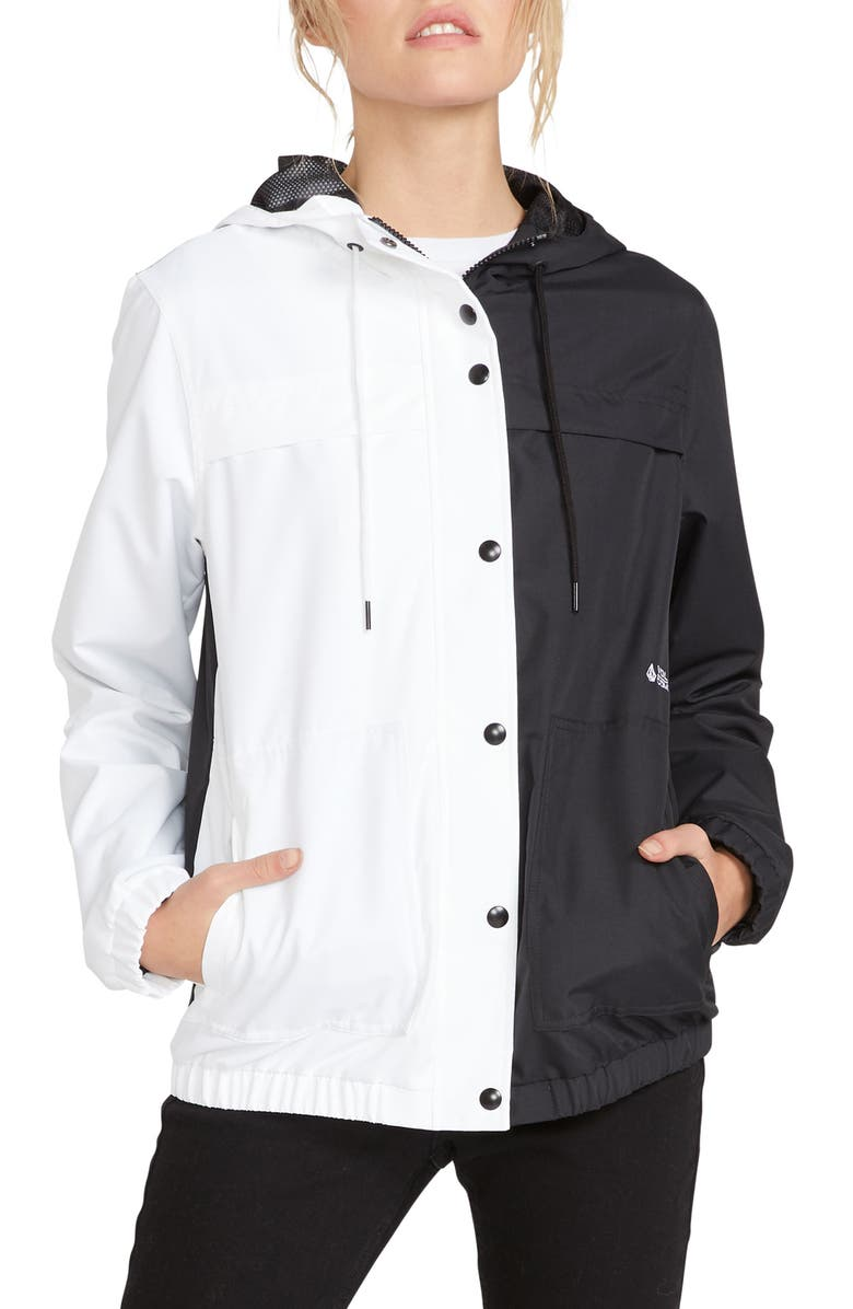 VOLCOM Enemy Stone Jacket, Main, color, BLACK WHITE
