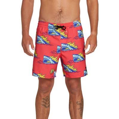 Volcom Duhh Dunt Swim Trunks, Pink