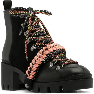 Schutz Emanuela Platform Hiking Boot, Black