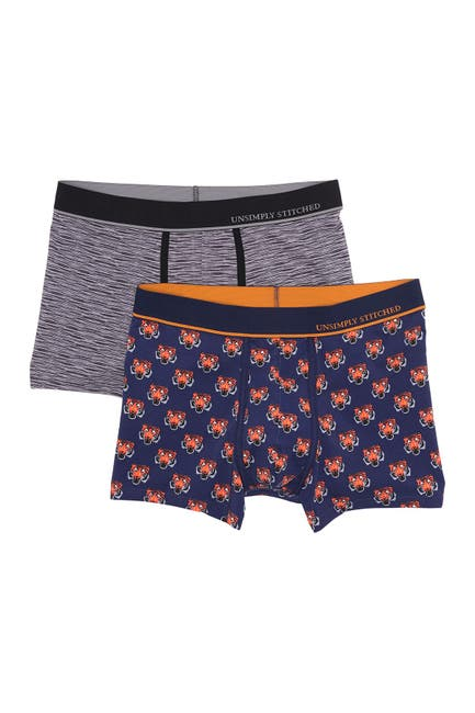 Image of Unsimply Stitched Printed Stretch Boxer Brief - Pack of 2