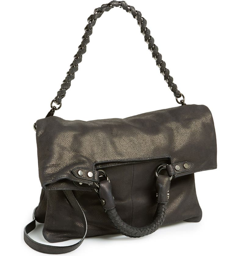 ELLIOTT LUCCA 'Iara' 4-in-1 Leather Foldover Tote, Main, color, 001