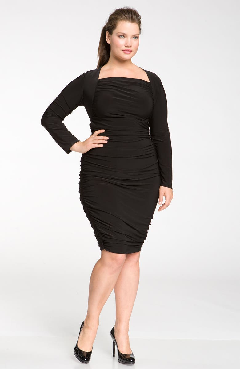 TAHARI WOMAN 'Patty' Dress, Main, color, Black