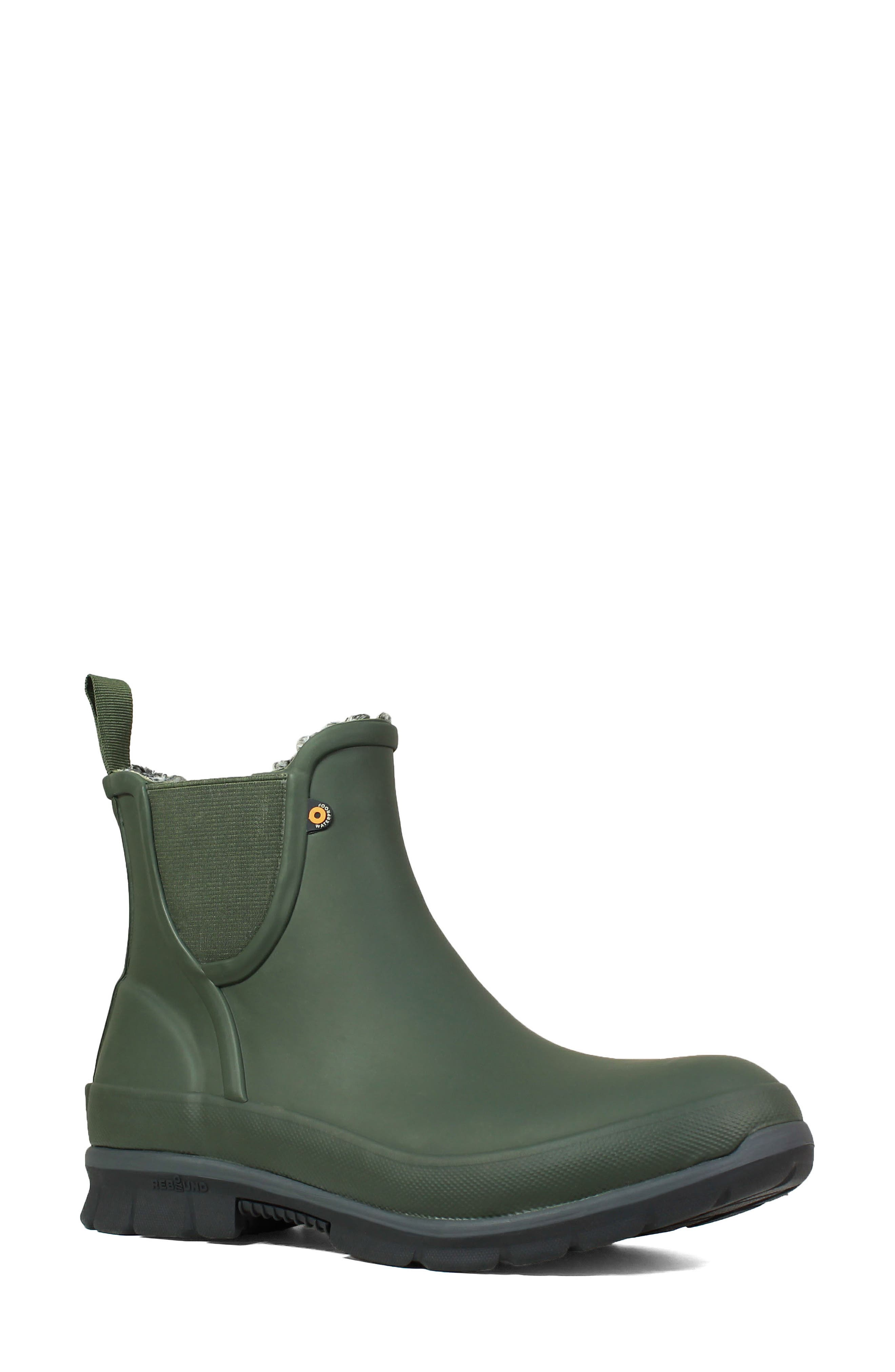 Bogs Amanda Plush Waterproof Slip-On Boot, Green