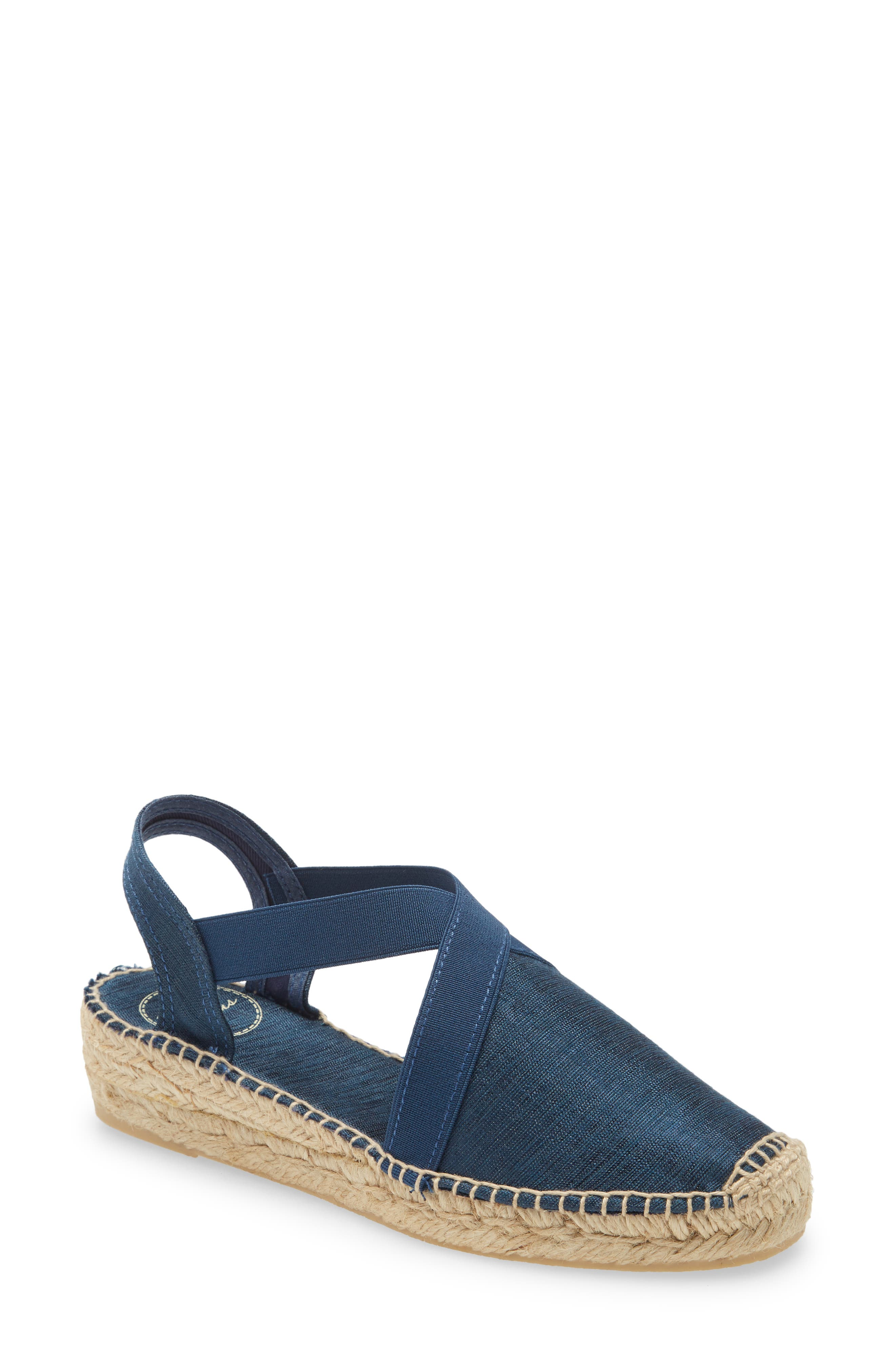 Tonal elastic crossover straps ease the fit of a breezy slingback sandal styled with a closed toe and ropy espadrille trim. Style Name: Toni Pons \\\'Vic\\\' Espadrille Slingback Sandal (Women). Style Number: 1122743. Available in stores.