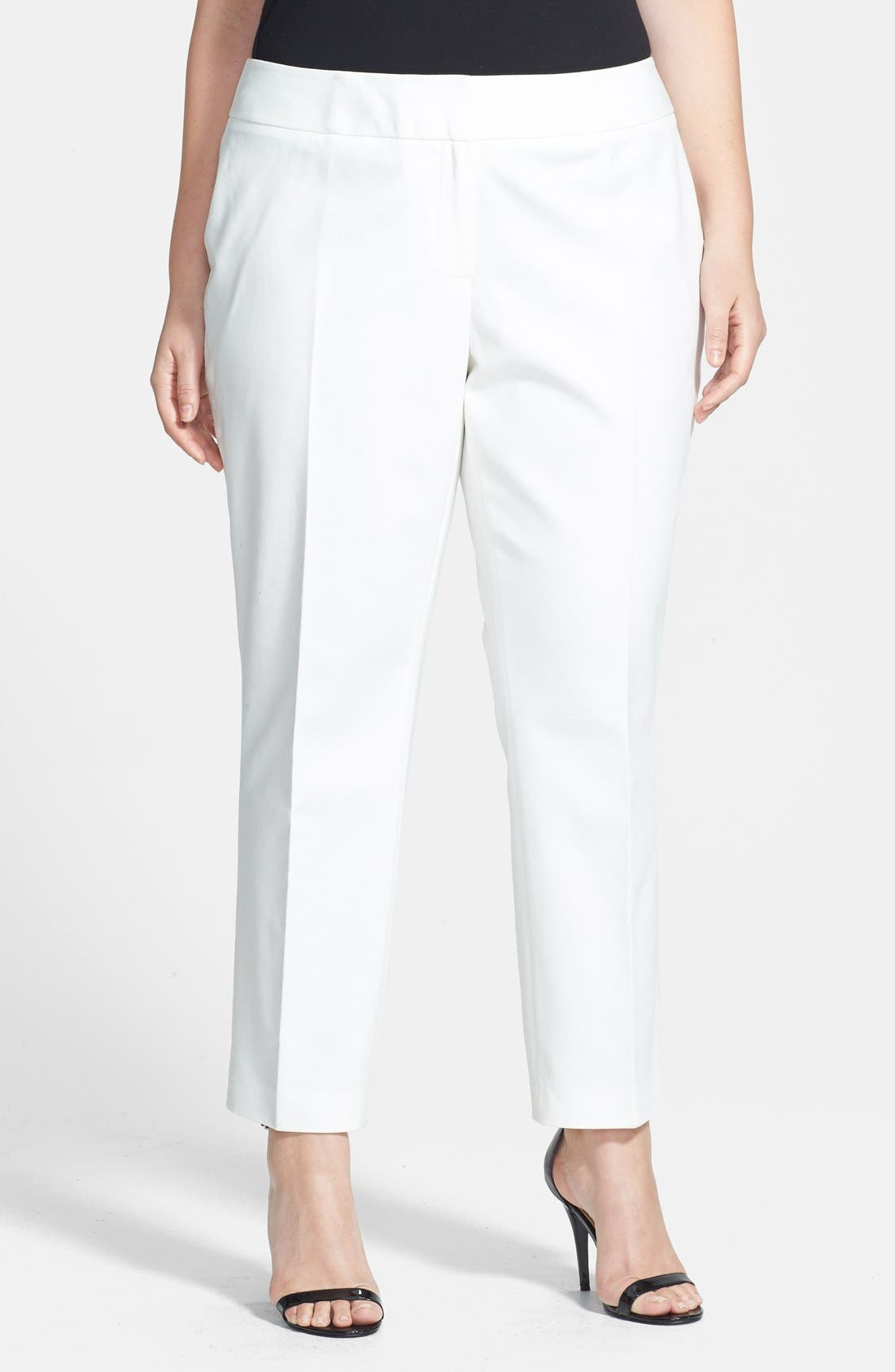 Vince Camuto Plus Size Slim-leg Pants In New Ivory