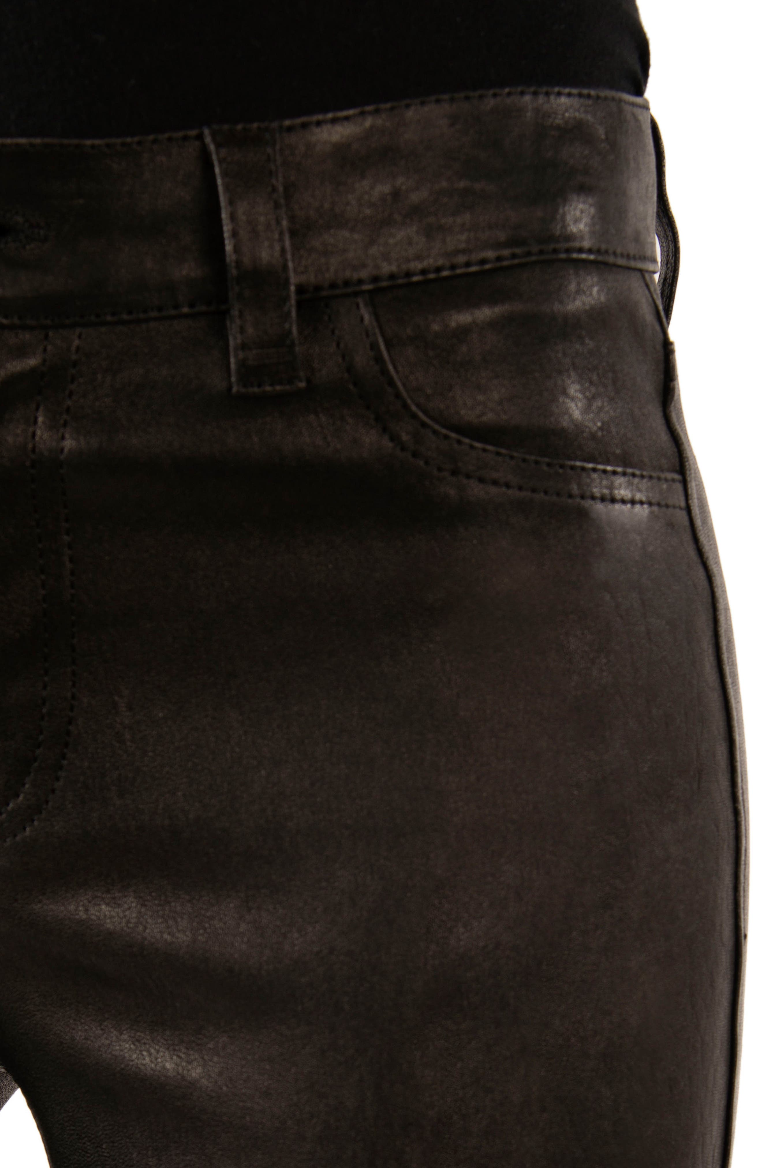 ,                             '8001' Lambskin Leather Pants,                             Alternate thumbnail 19, color,                             003