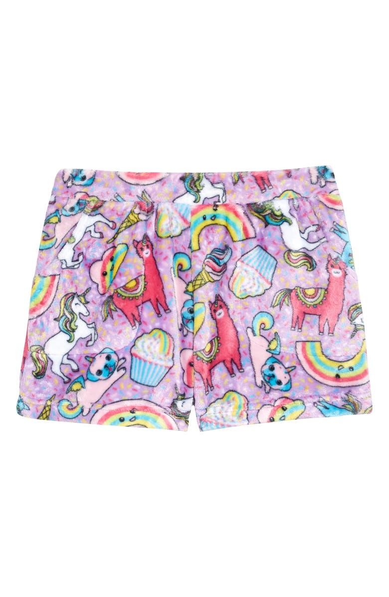 CANDY PINK Rainbow Carnival Sleep Shorts, Main, color, LILAC