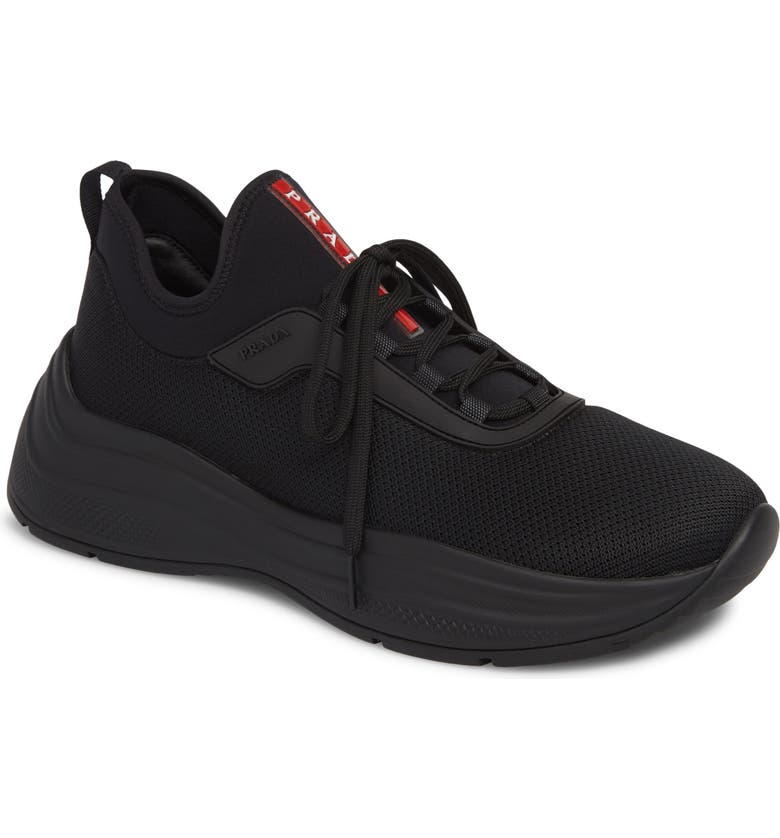 PRADA Trainer Sneaker, Main, color, NERO