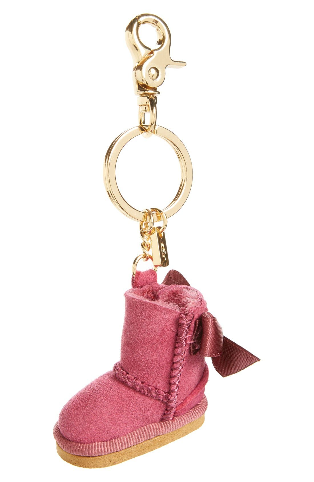 ,                             Australia 'Bailey Bow Boot' Genuine Shearling Bag Charm,                             Main thumbnail 5, color,                             616