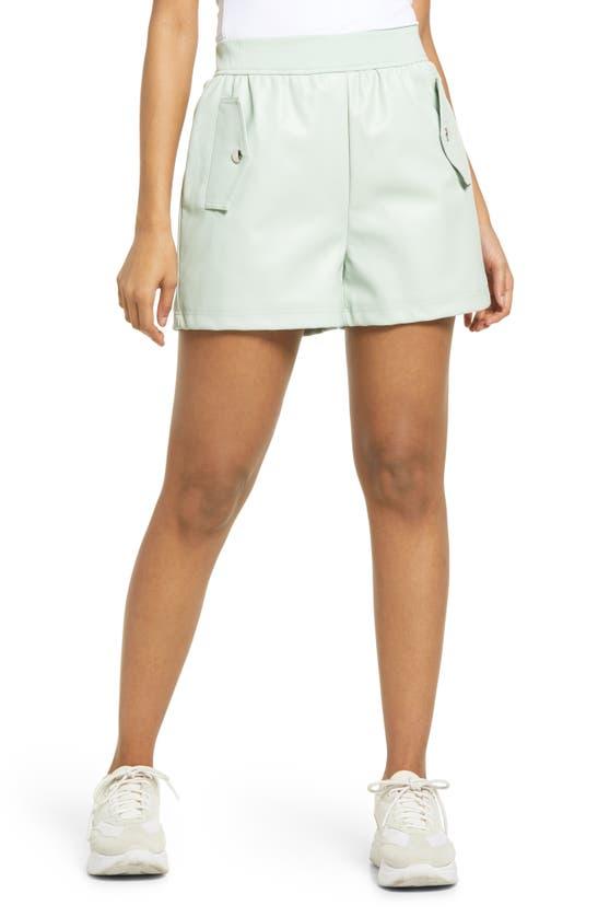 Kendall + Kylie High Waist Shorts In Mint