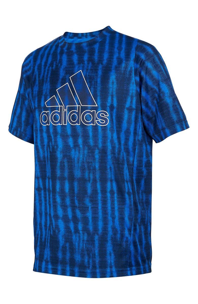 ADIDAS Freelift Performance T-Shirt, Main, color, BLUE