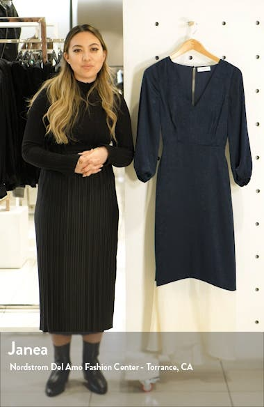 New Horizons Satin Midi Dress, sales video thumbnail