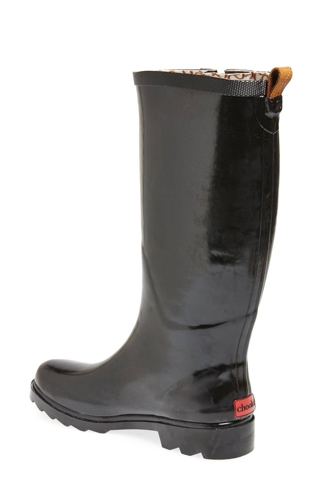 ,                             'Top Solid' Rain Boot,                             Alternate thumbnail 6, color,                             002