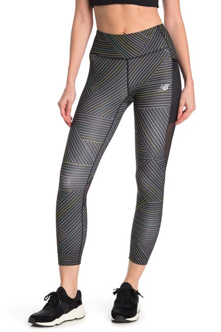 Image of New Balance Printed Impact Run Crop Leggings