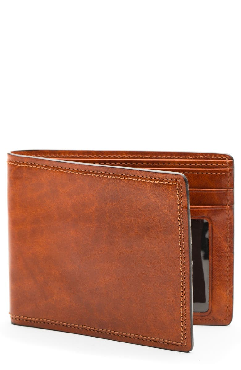 BOSCA Dolce RFID Executive Wallet, Main, color, AMBER