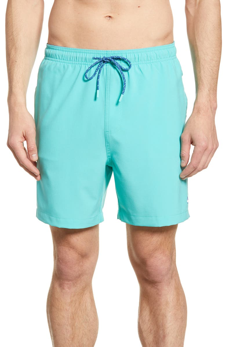 SOUTHERN TIDE Solid Swim Trunks, Main, color, 300
