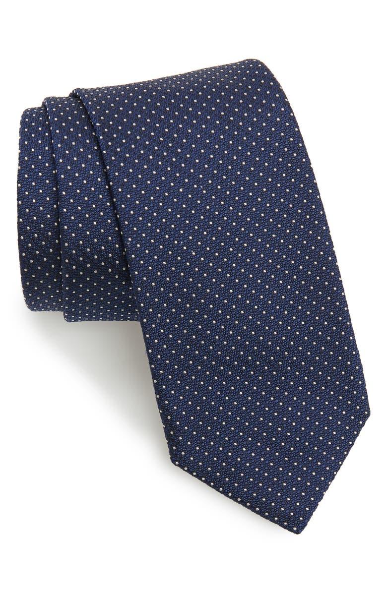 BOSS Dot Silk Tie, Main, color, 480