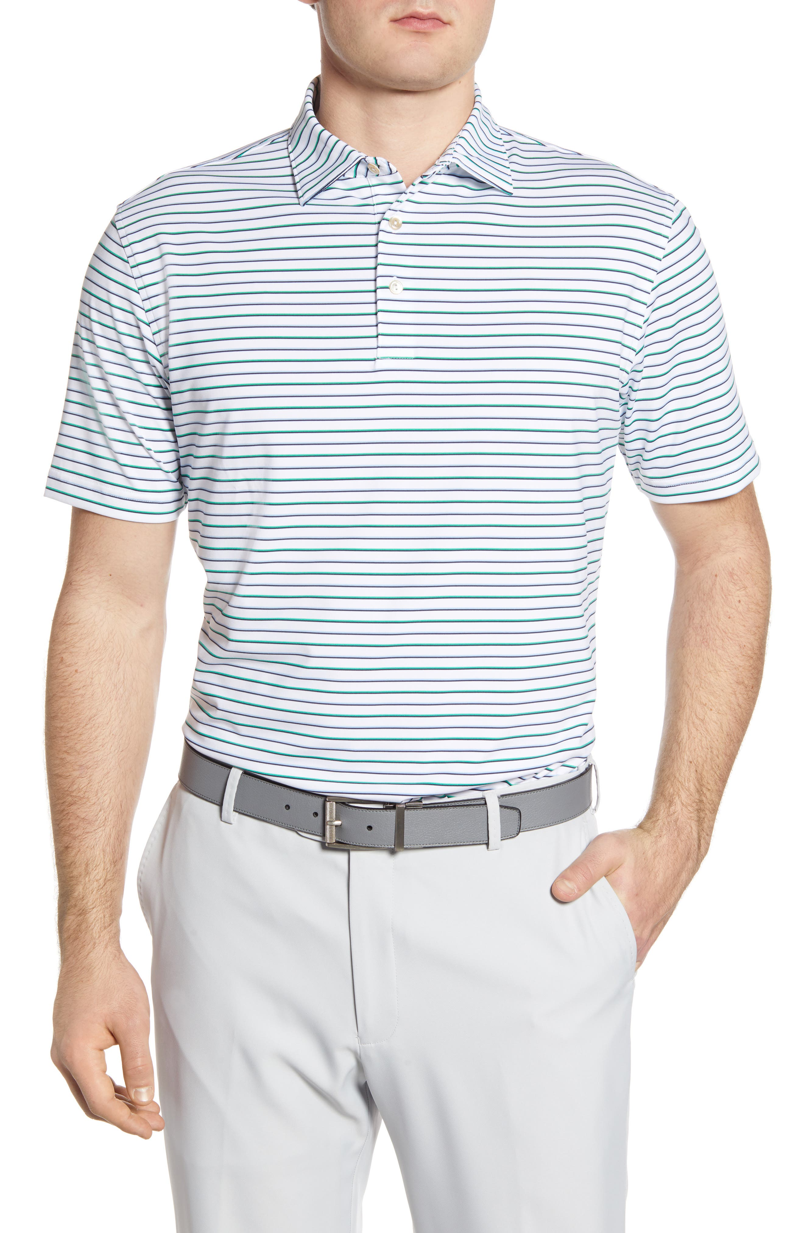 Image of Peter Millar Stripe Stretch Knit Polo
