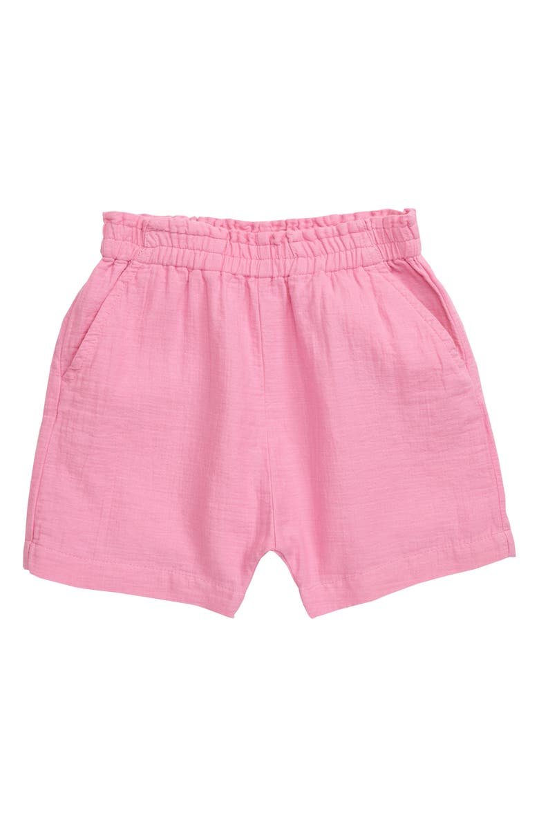 STEM Elastic Waist Shorts, Main, color, PINK CRAYON