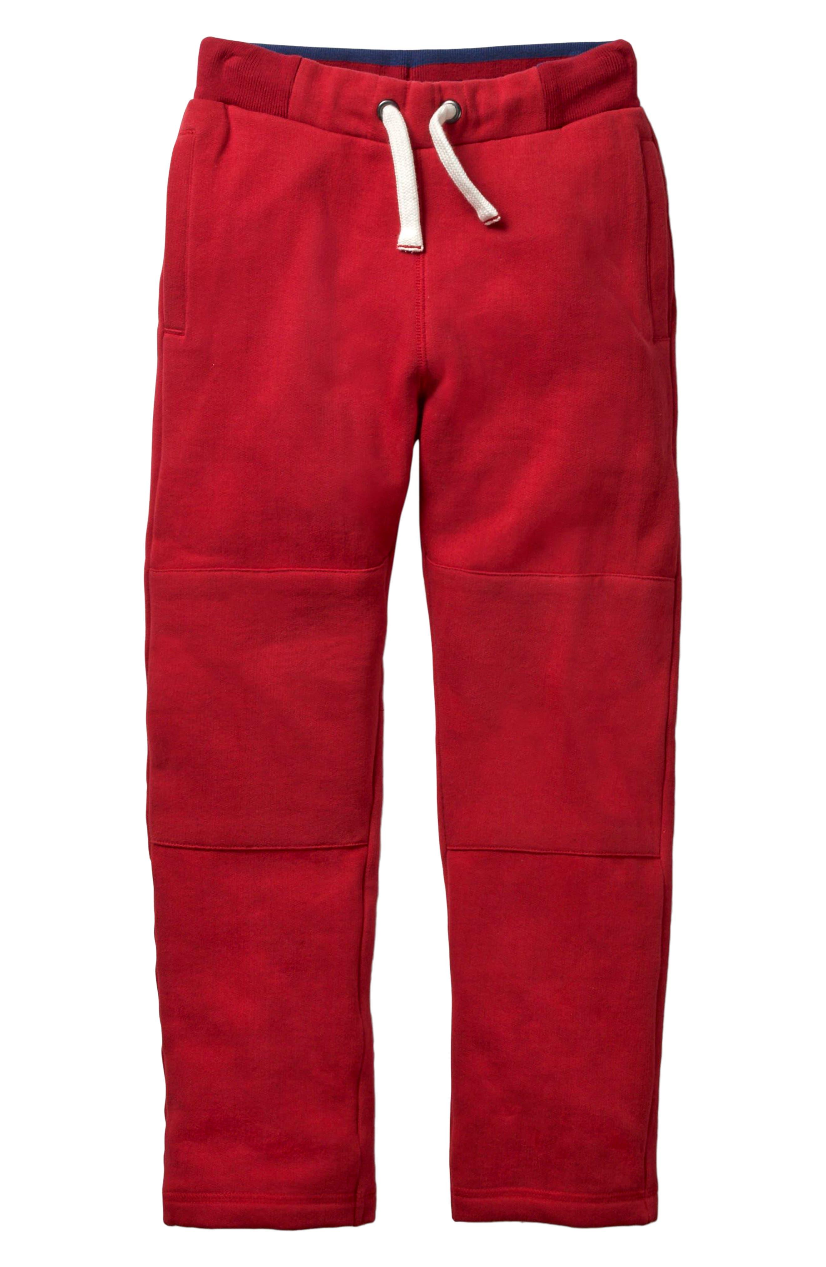 Warrior Knee Sweatpants, Main, color, ENGINE RED