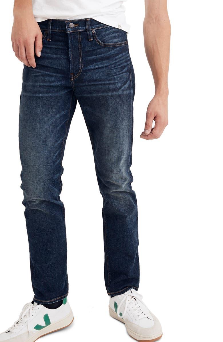 MADEWELL Slim Straight Leg Jeans, Main, color, MARKET