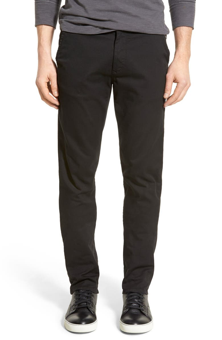 GOOD MAN BRAND 'Grand Lux' Slim Fit Twill Pants, Main, color, 001