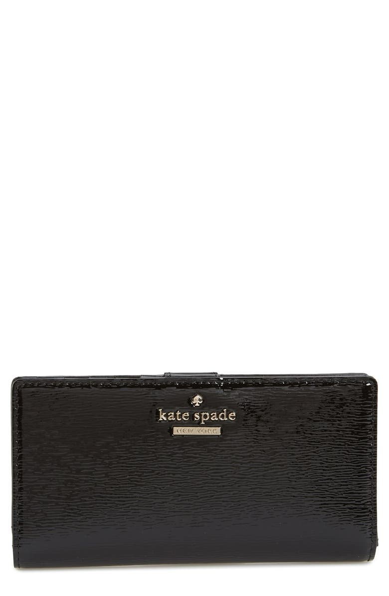 KATE SPADE NEW YORK 'cedar street patent - stacy' wallet, Main, color, 001