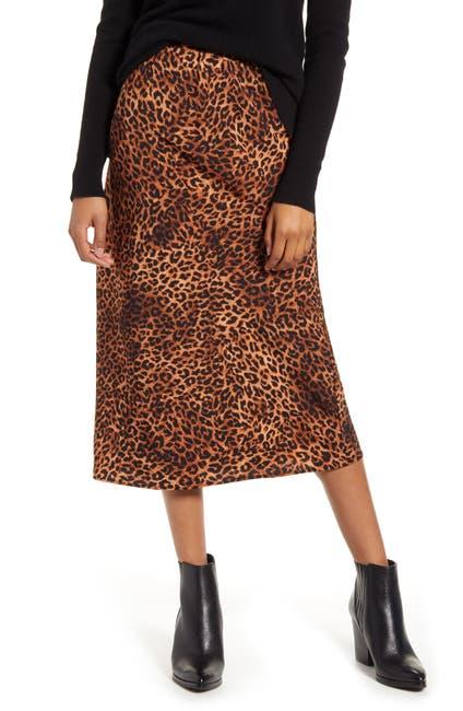 Image of Bobeau Lyndon Bias Cut Midi Skirt