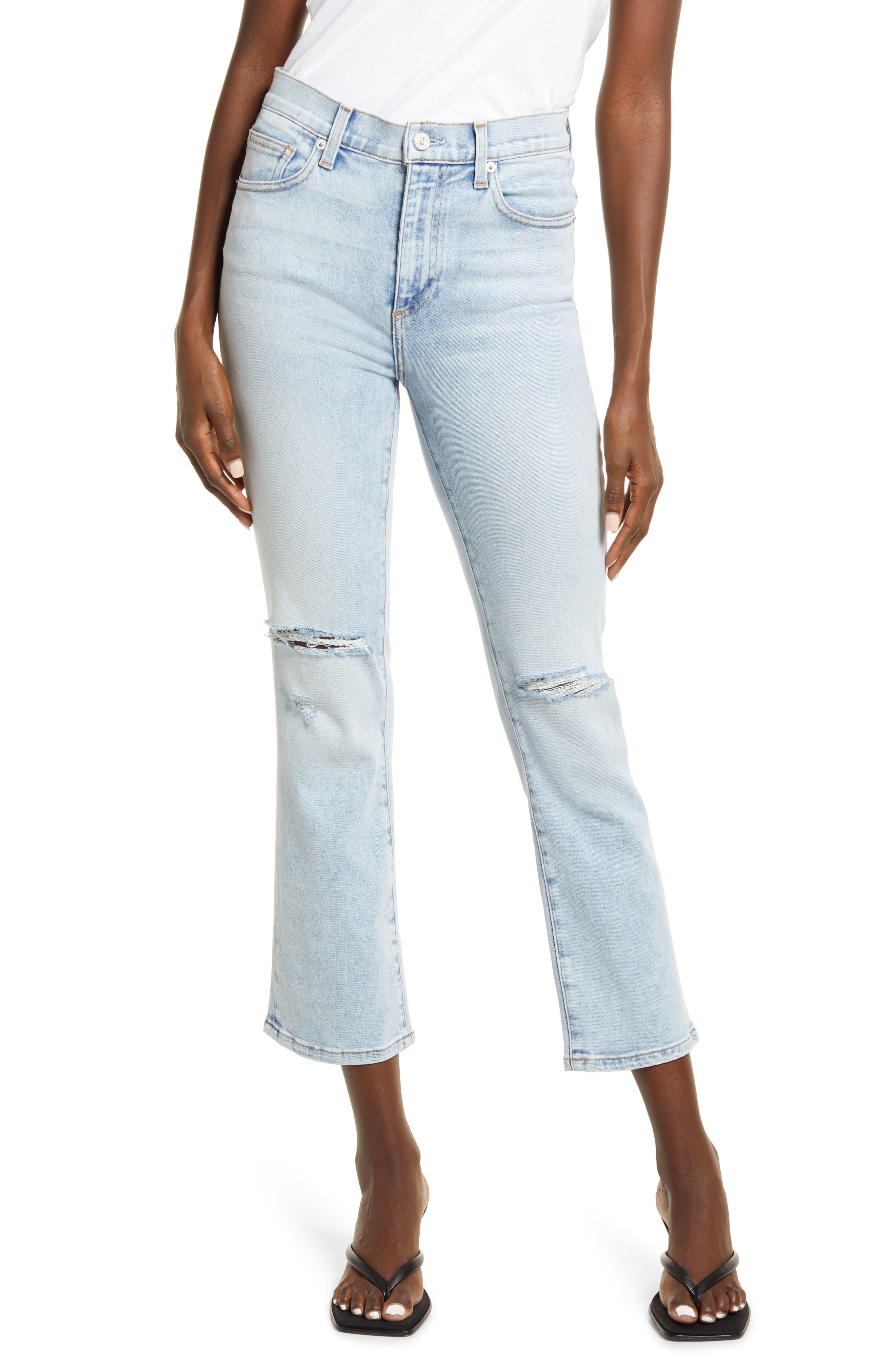 Bella Crop Flare Jeans