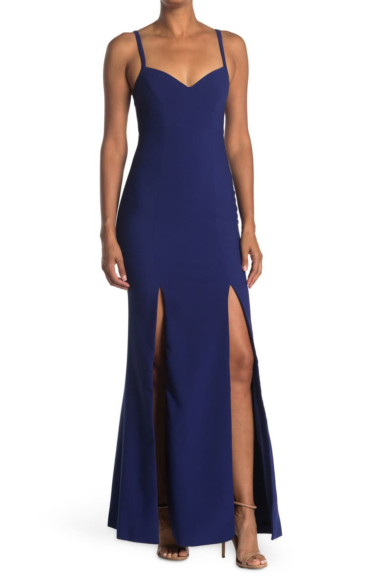 LIKELY Alameda Gown, Main, color, BLUEPRINT