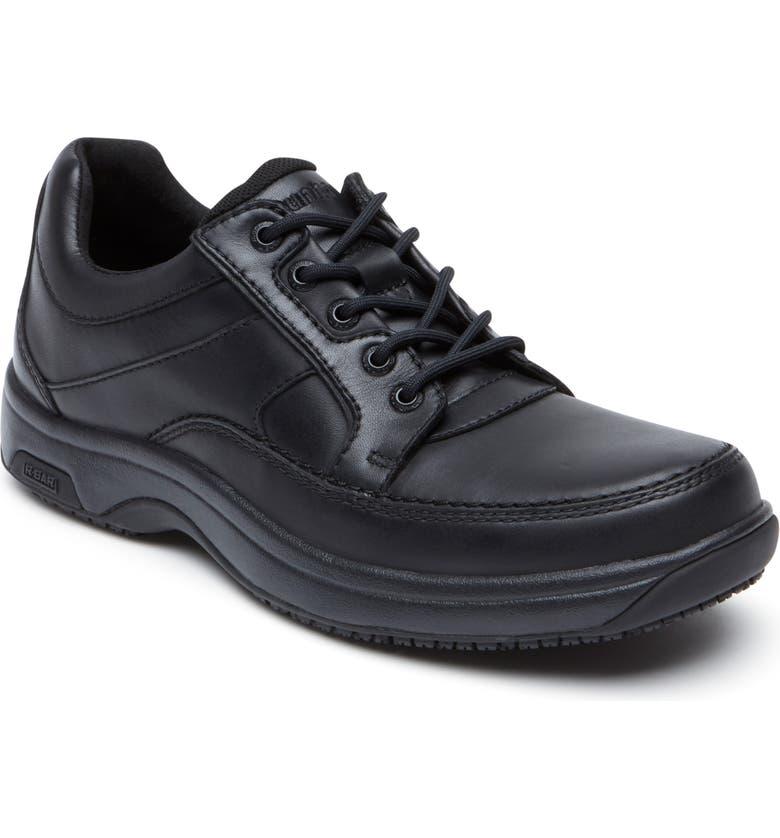 DUNHAM Midland Waterproof Sneaker, Main, color, BLACK LEATHER
