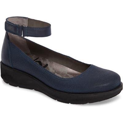 Otbt Scamper Ankle Strap Wedge, Blue