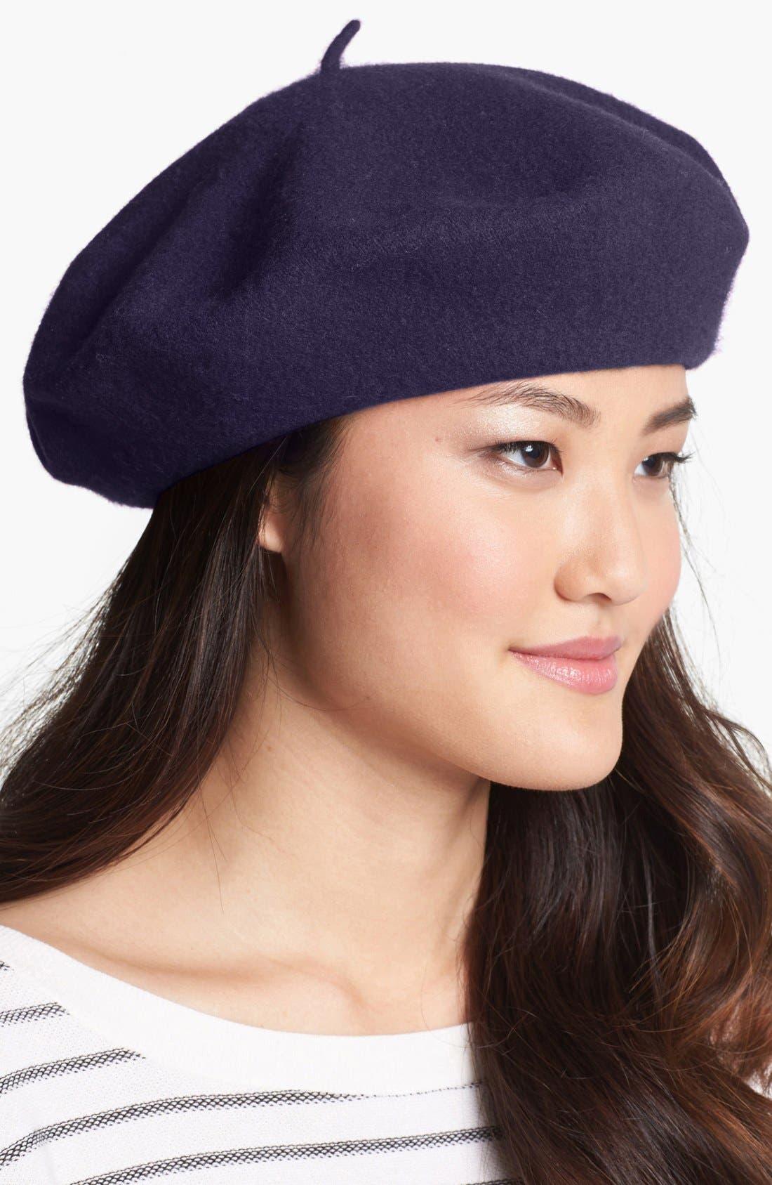 ,                             'Basic' Wool Beret,                             Main thumbnail 10, color,                             501