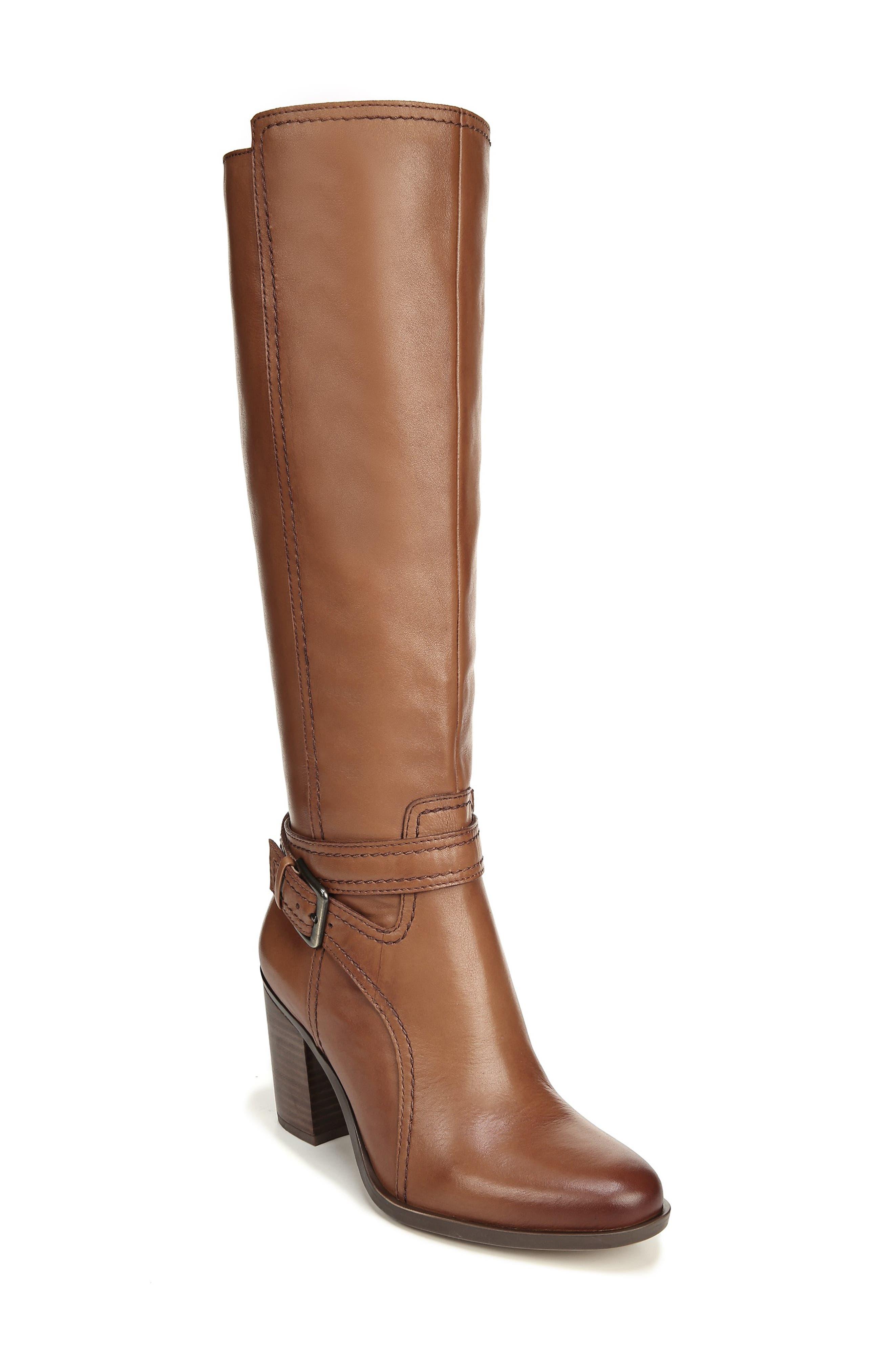 Naturalizer Kelsey Knee High Boot, Regular Calf- Brown